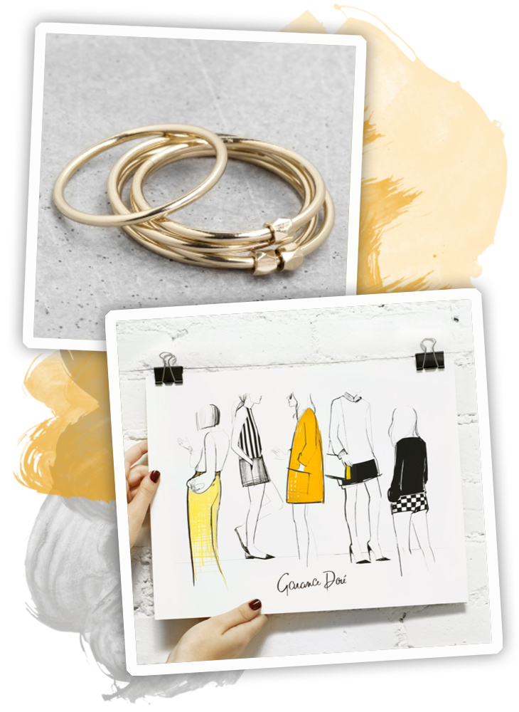 selection shopping gris-jaune