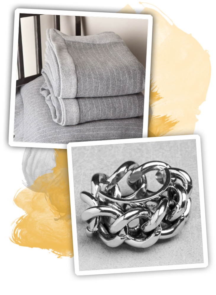 selection shopping gris-jaune