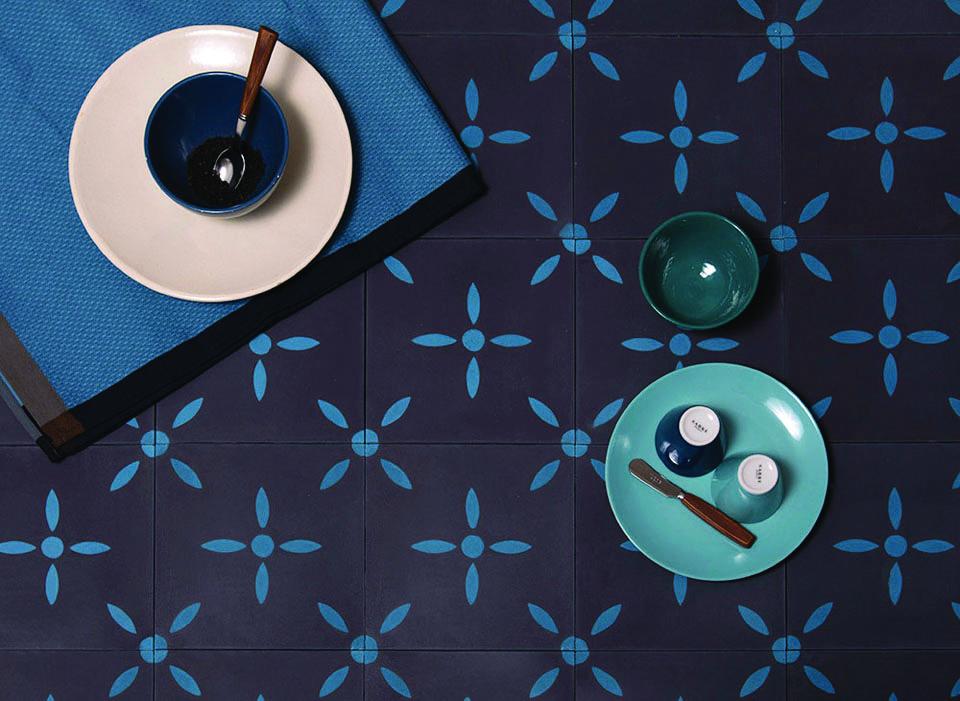 les carreaux de ciment s 39 imposent en d co. Black Bedroom Furniture Sets. Home Design Ideas
