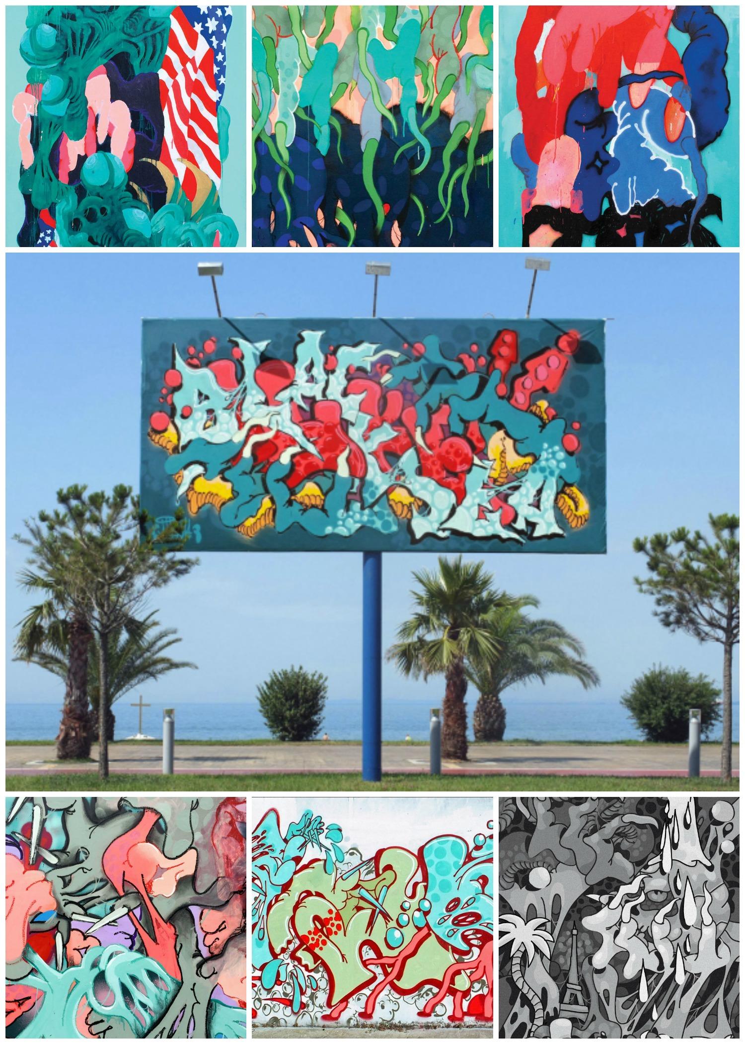 Ilk street art les confettis