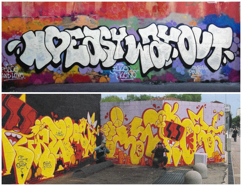 ilk graffitis murs