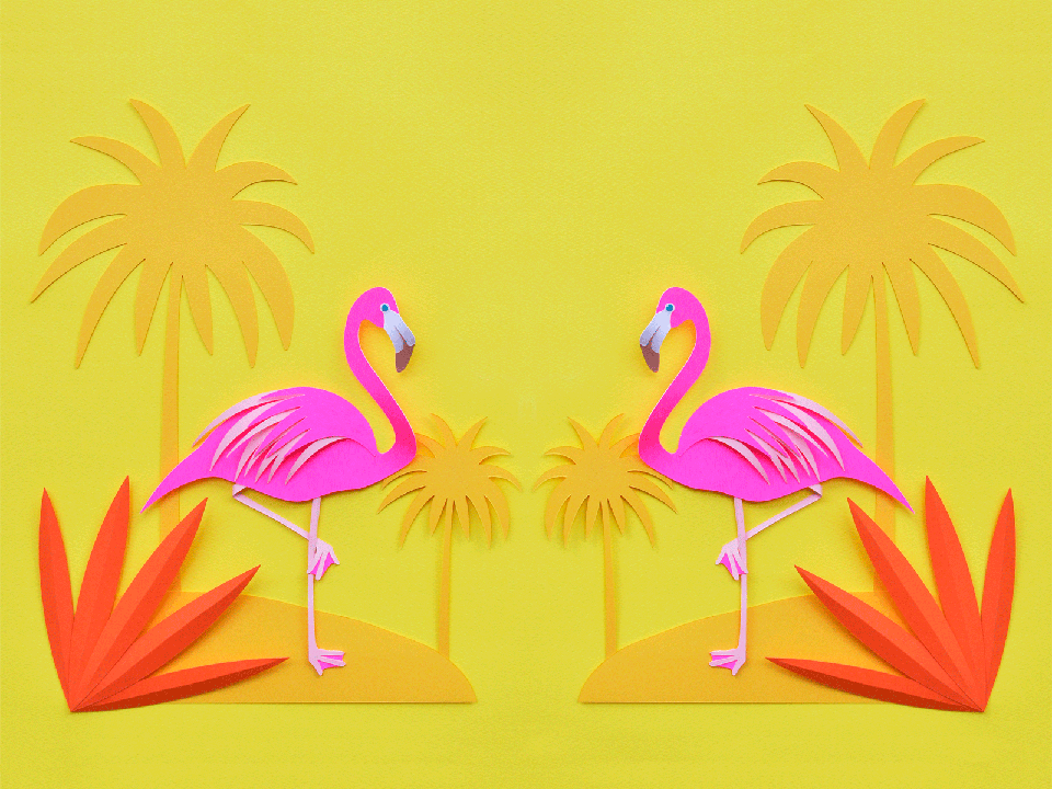 yello_flamingo_wallpaper