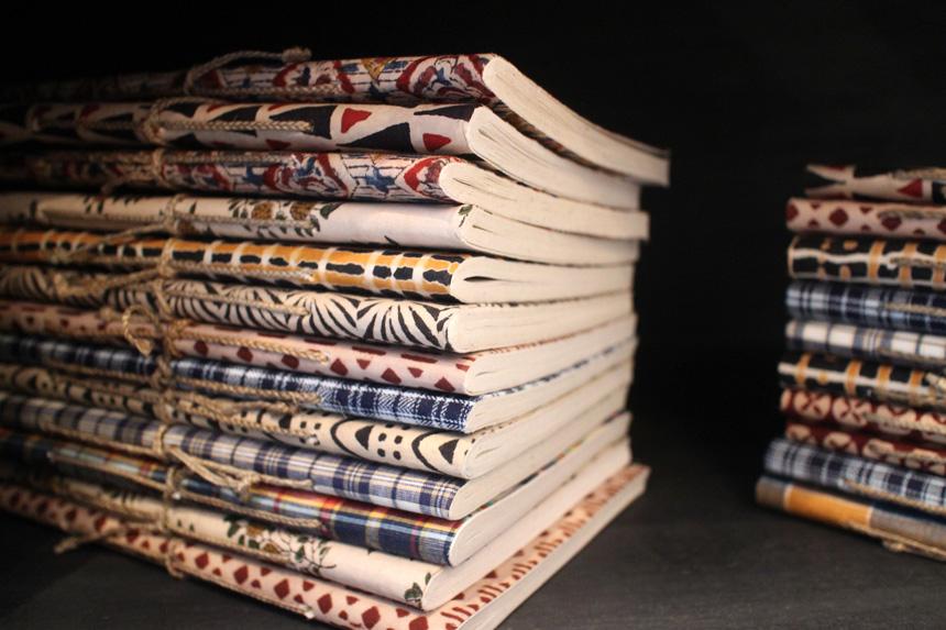 jamini carnet couverture tissu
