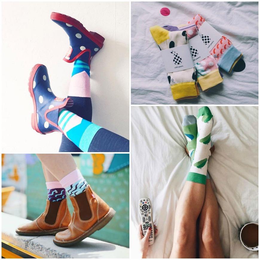 Une marque innovante et éthique qui fabrique des chaussettes au look instagrammable : odd pears !