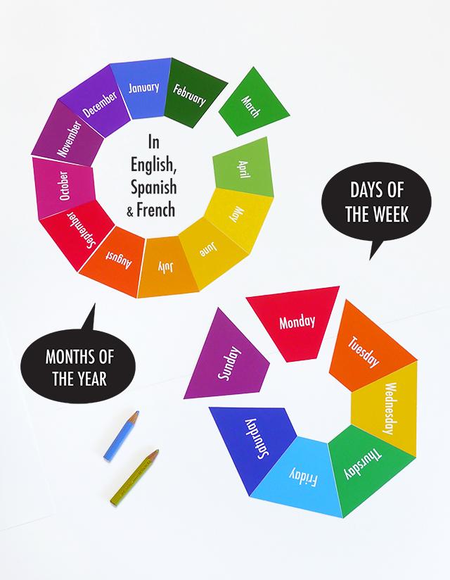 mr printables days of the week months