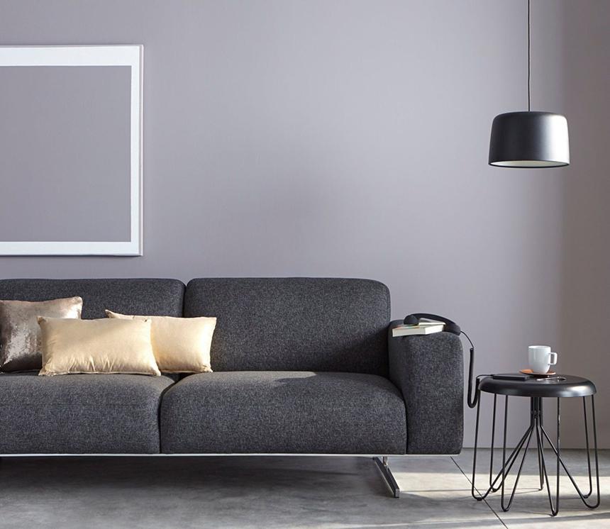 Le gris tendance et intemporel - Couleur peinture avec carrelage gris ...