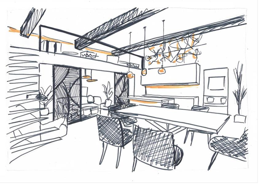 Hubstairs Croquis d'architecte