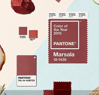 Le pantone Marsala, couleur de l'année